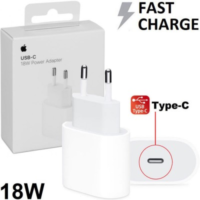TRAVEL USB TYPE-C 18W ORIGINALE APPLE A1692 FAST CHARGING (RICARICA VELOCE) per IPHONE XS, IPAD PRO 12.9' - COLORE BIANCO BLISTE