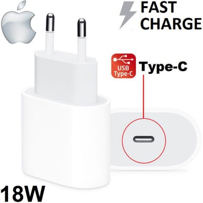 TRAVEL USB TYPE-C 18W ORIGINALE APPLE A1692 FAST CHARGING (RICARICA VELOCE) per IPHONE XS, IPAD PRO 12.9' - COLORE BIANCO BULK