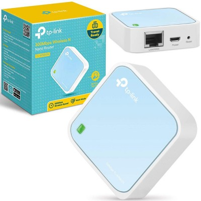 NANO ROUTER WIRELESS PORTATILE N 300Mbps CON MODALITA' ROUTER, HOTSPOT, RANGE EXTENDER COLORE BIANCO TP-LINK BLISTER