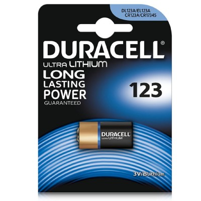 BATTERIA CR123A LITIO BLISTER 1PZ DURACELL