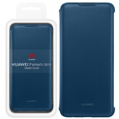 CUSTODIA ORIGINALE per HUAWEI HONOR 20 LITE, P SMART PLUS 2019 - FLIP COVER ORIZZONTALE PELLE COLORE BLU 51993011 BLISTER