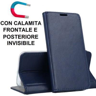 CUSTODIA per SAMSUNG GALAXY S10 LITE, A91 - FLIP ORIZZONTALE SIMILPELLE CON CHIUSURA MAGNETICA E INTERNO IN TPU COLORE BLU