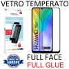 PELLICOLA per HUAWEI Y6p, HONOR 9A - IN VETRO TEMPERATO FULL FACE 9H - FULL GLUE 0,33mm CON CORNICE NERA MYSCREEN LITE BLISTER