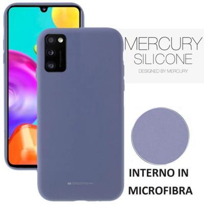 CUSTODIA per SAMSUNG GALAXY A41 (SM-A415) - IN SILICONE CON INTERNO IN MICROFIBRA COLORE LAVANDA ALTA QUALITA' MERCURY BLISTER