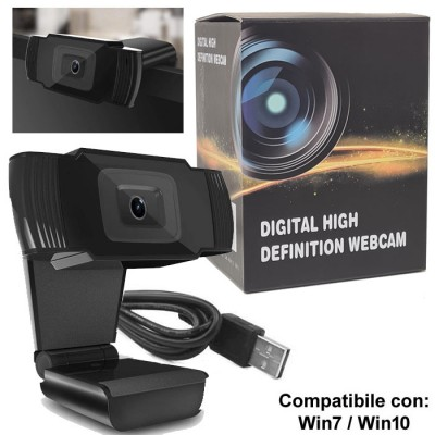 WEBCAM HD USB 2.0 RISOLUZIONE 1280x720p CON MICROFONO INTEGRATO E FISSAGGIO A CLIP LUNGHEZZA CAVO 1,5MT COLORE NERO BLISTER