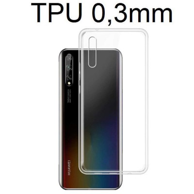 CUSTODIA per HUAWEI P SMART S IN GEL TPU SILICONE ULTRA SLIM 0,3mm TRASPARENTE