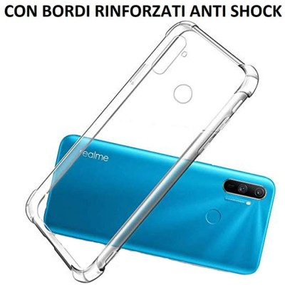 CUSTODIA per REALME C3, REALME C3s IN GEL TPU SILICONE TRASPARENTE SLIM 0,5mm CON BORDI RINFORZATI ANTI SHOCK
