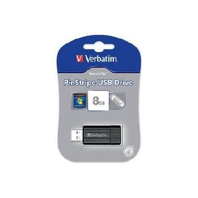 PEN DRIVE 8 GB 49062 USB 2.0 CON CONNETTORE RETRATTILE E ASOLA DI AGGANCIO VERBATIM
