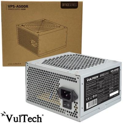 ALIMENTATORE PER PC ATX 250W CON VENTOLA DA 12 CM A BASSA RUMOROSITA' COLORE GRIGIO VPS-A500R VULTECH BLISTER