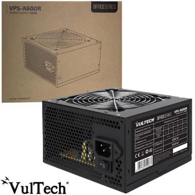 ALIMENTATORE PER PC ATX 300W CON VENTOLA DA 12 CM A BASSA RUMOROSITA' E CONNETTORE PCI 6+2 Pin NERO VPS-A600R VULTECH BLISTER