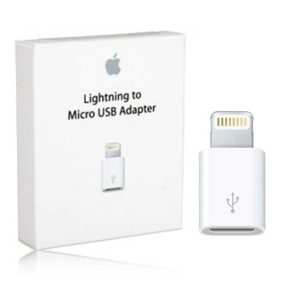 ADATTATORE ORIGINALE APPLE da MICRO USB FEMMINA A IPHONE 6S, 6S PLUS, IPAD PRO MASCHIO BLISTER SEGUE COMPATIBILITA'..