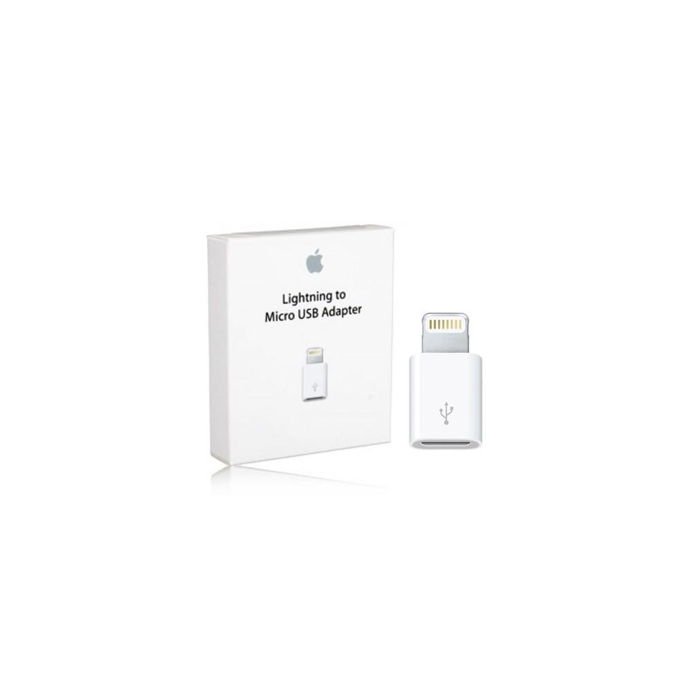 ADATTATORE ORIGINALE APPLE da MICRO USB FEMMINA A IPHONE 6S, 6S PLUS, IPAD PRO MASCHIO BLISTER SEGUE COMPATIBILITA'..