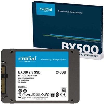 DRIVE A STATO SOLIDO SSD BX500 240GB 2,5' CON VELOCITA' DI TRASFERIMENTO FINO A 540MB/s IN LETTURA CRUCIAL BLISTER